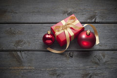 Fond en bois de Noël Photographie stock libre de droits