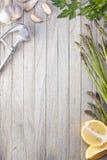 Fond en bois de nourriture de légumes Photo stock