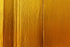Fond en bois de peinture d'or Image libre de droits