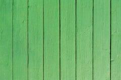 Fond en bois de peinture de vert de planche photographie stock libre de droits