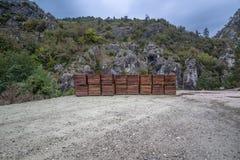Fond en bois de planche de vecteur Photo stock
