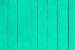 Fond en bois de planche de peinture verte de turquoise photographie stock