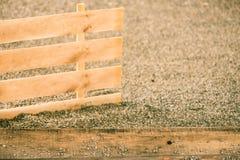 Fond en bois de planches de vintage sur le bardeau Photographie stock libre de droits
