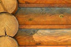Fond en bois de rondins de Brown Photos libres de droits