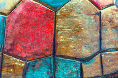 Fond en bois de style de forme d'hexagone de texture images libres de droits