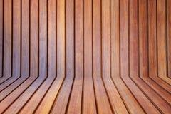 Fond en bois de teck Photographie stock