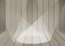 Fond en bois de texture avec le projecteur Image stock