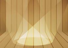 Fond en bois de texture avec le projecteur Photographie stock