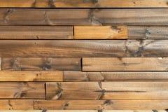 Fond en bois de texture de brun de planche le mur en bois tous les meubles de fissuration d'antiquité peints a survécu au papier  Images libres de droits