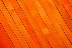 Fond en bois de texture de cloison de séparation de couleur orange approximative de cru image stock