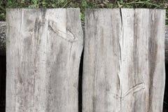 Fond en bois de texture de deux grandes planches Photos libres de droits