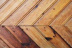 Fond en bois de texture de mur bleu et jaune Images libres de droits