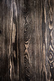 Fond en bois de texture de mur de Brown avec des noeuds Photos libres de droits