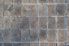 Fond en bois de texture de trottoir de bois de construction de blocs Photographie stock