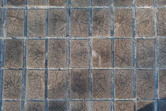 Fond en bois de texture de trottoir de bois de construction de blocs Image stock