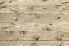 Fond en bois de texture des panneaux naturels de pin Images libres de droits
