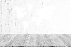 Fond en bois de texture, processus dans la couleur blanche avec le terra en bois Photos stock