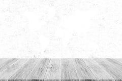 Fond en bois de texture, processus dans la couleur blanche avec le terra en bois Image libre de droits