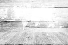 Fond en bois de texture, processus dans la couleur blanche avec le terra en bois Photo libre de droits