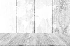 Fond en bois de texture, processus dans la couleur blanche avec le terra en bois Images stock