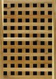 Fond en bois de trellis de bois de construction Image stock