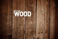 Fond en bois de vecteur Contexte en bois pour des conceptions créatives illustration stock
