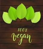 Fond en bois de Vegan Photographie stock libre de droits