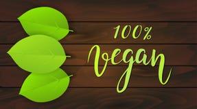 Fond en bois de Vegan Image stock