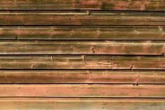 Fond en bois de vieux panneaux minables de vintage Groupe en bois de Broun de conseils horizontaux images libres de droits