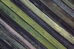 Fond en bois de vintage Conseils multicolores de Оld Texture Photographie stock