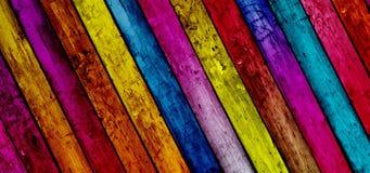 Fond en bois diagonal de planches Photos libres de droits