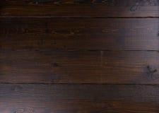 Fond en bois foncé de panneau Image libre de droits
