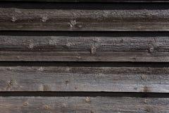 Fond en bois foncé horizontal de planche Photo libre de droits