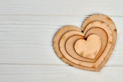 Fond en bois heureux de jour de valentines Image stock