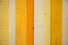 Fond en bois jaune Image libre de droits