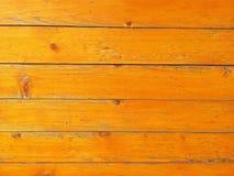 Fond en bois jaune de modèle Photographie stock libre de droits