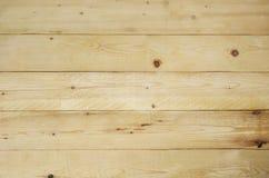 Fond en bois jaune de planches Photos libres de droits