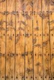 Fond en bois jaune de texture Photographie stock libre de droits