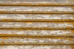Fond en bois jaune grunge de texture Photos stock