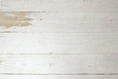 Fond en bois minable de planche superficiel par les agents par vintage blanc Photos libres de droits