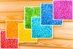 Fond en bois multicolore abstrait Images stock