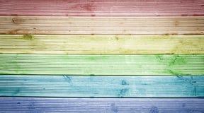 Fond en bois multicolore de texture Photo stock