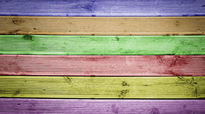 Fond en bois multicolore de texture Photos stock