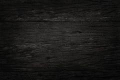 Fond en bois noir de mur, texture de bois foncé d'écorce Photo libre de droits