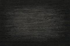 Fond en bois noir de mur, texture de bois foncé d'écorce Image libre de droits
