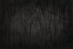 Fond en bois noir de mur, texture de bois foncé d'écorce Photographie stock libre de droits