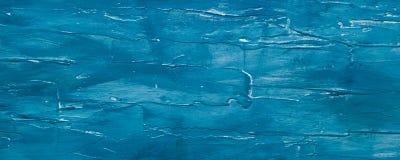 Fond en bois peint bleu-foncé Images libres de droits