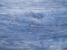 Fond en bois peint bleu-foncé Photographie stock libre de droits