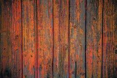 Fond en bois peint de barrière Images libres de droits