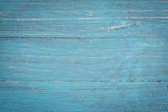 Fond en bois peint par bleu photo libre de droits